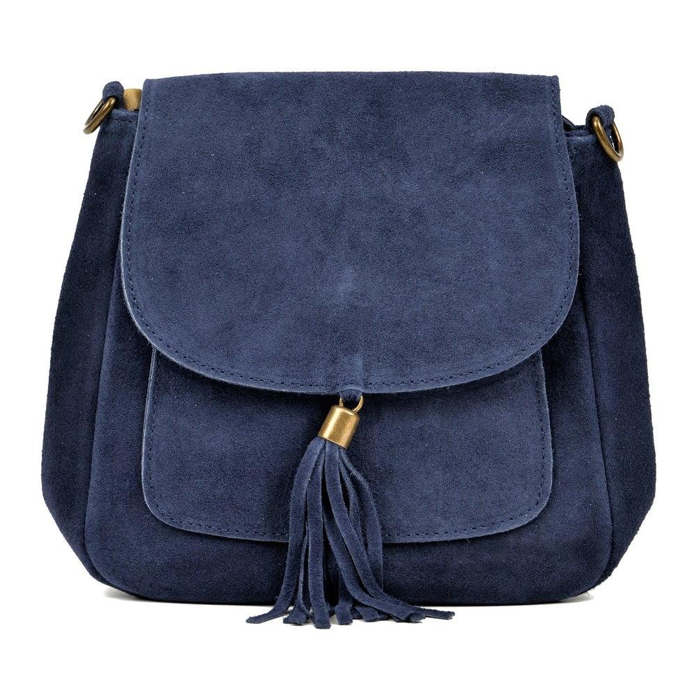 Modrá kožená kabelka AnnaLuchini Shannon