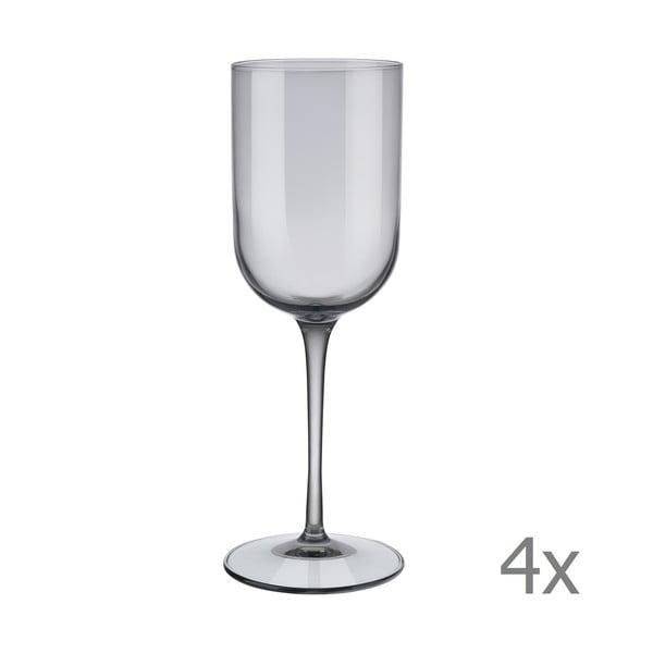 Mira 4 db szürke fehérboros pohár, 280 ml - Blomus