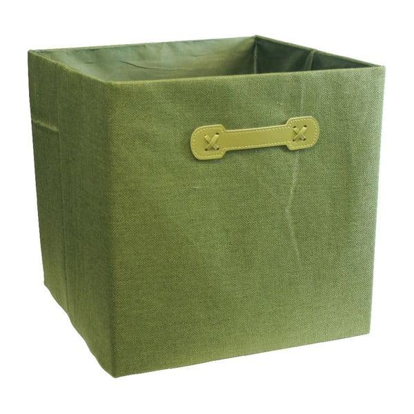 Úložný box Ordinett Cube Green, 32x32cm