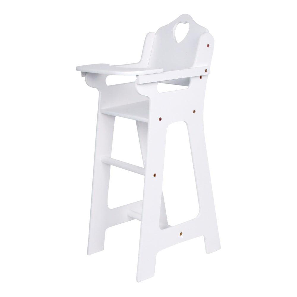 Bílá dřevěná stolička pro panenky Legler Dolls