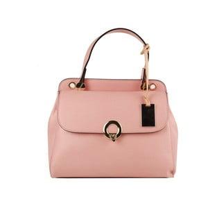 Růžová kožená kabelka Matilde Costa New York