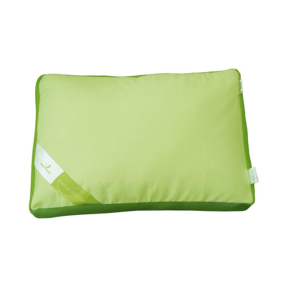Zelený polštář s paměťovou pěnou Aero Green Future, 50 x 60 cm