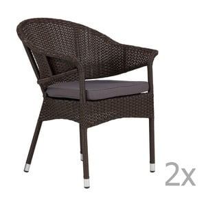 Set 2 scaun de grădină SOB Garden, gri antracit
