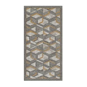 Traversă Floorita Hypnotik, 55 x 280 cm, gri-auriu