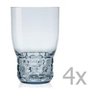 Sada 4 světle modrých sklenic Kartell Jellies, 400ml