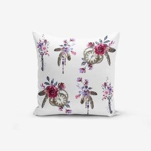 Povlak na polštář s příměsí bavlny Minimalist Cushion Covers Pocket Clock Key, 45 x 45 cm