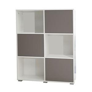 Béžovo-bílá knihovna 13CasaSamuel