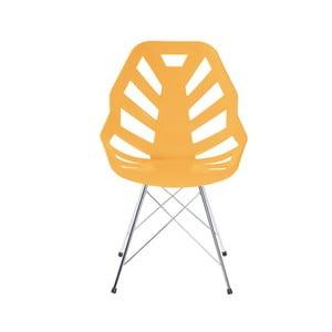 Světle oranžová židle Ninja, pavoukové nohy