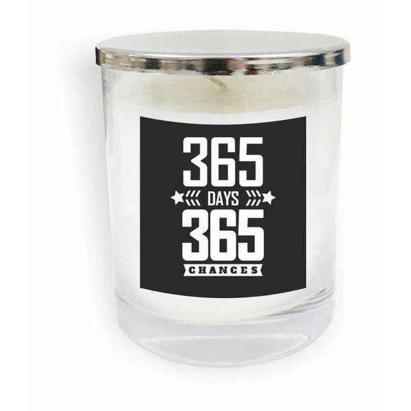 Motto Glass Candle V14 fehér gyertya - North Carolina Scandinavian Home Decors