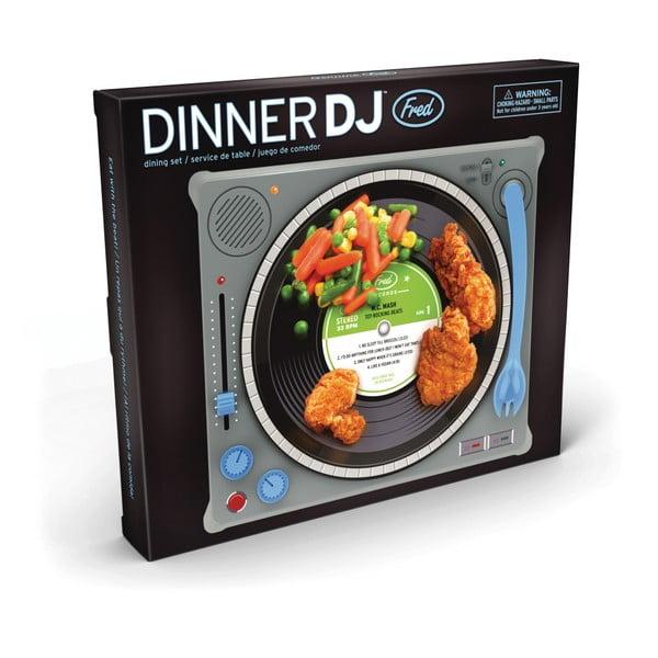 Dětský jídelní podnos Fred & Friends Dinner DJ` Design