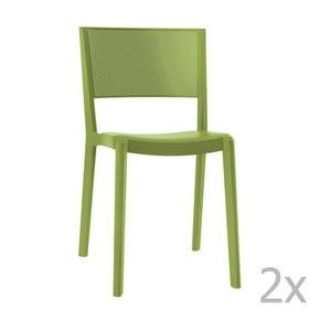 Sada 2 zelených zahradních židlí Resol Spot