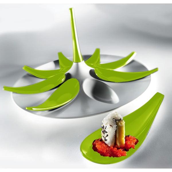 Servírovací set na jednohubky Entity White/Green