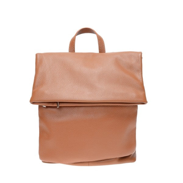 Hnědý kožený batoh Isabella Rhea