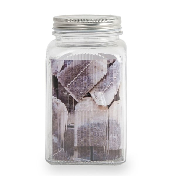 Üveg teásdoboz rozsdamentes acél fedéllel, 1,2 l - Sabichi