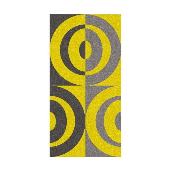 Ručník Ladessa, žluté kruhy, 70x140 cm