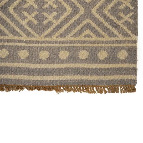 Ručně tkaný koberec Grey Ethno, 150x245 cm
