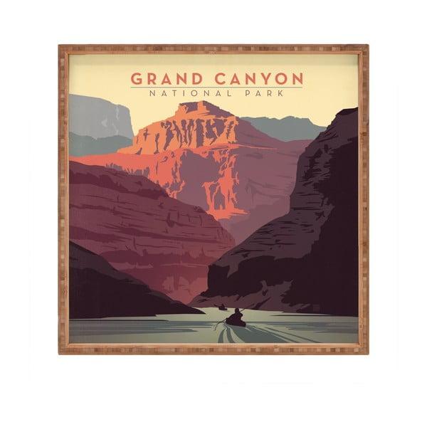 Tavă decorativă din lemn Grand Canyon, 40x40cm