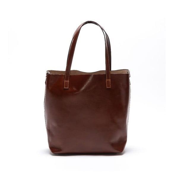 Kožená kabelka Beatriz, tmavě hnědá