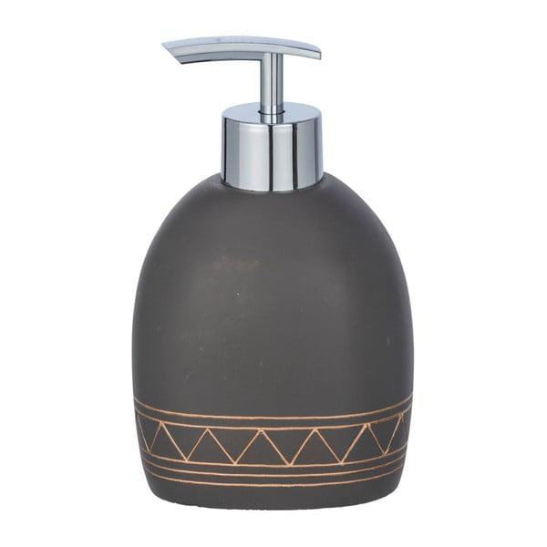 Dozator săpun Wenko Etrusk, 300 ml, gri închis