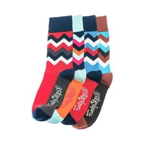 Sada 4 párů ponožek Funky Steps Fido, unisex velikost