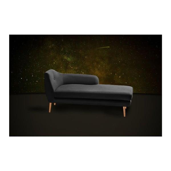 Černá lenoška Scandi by Stella Cadente Maison Lounge, pravý roh