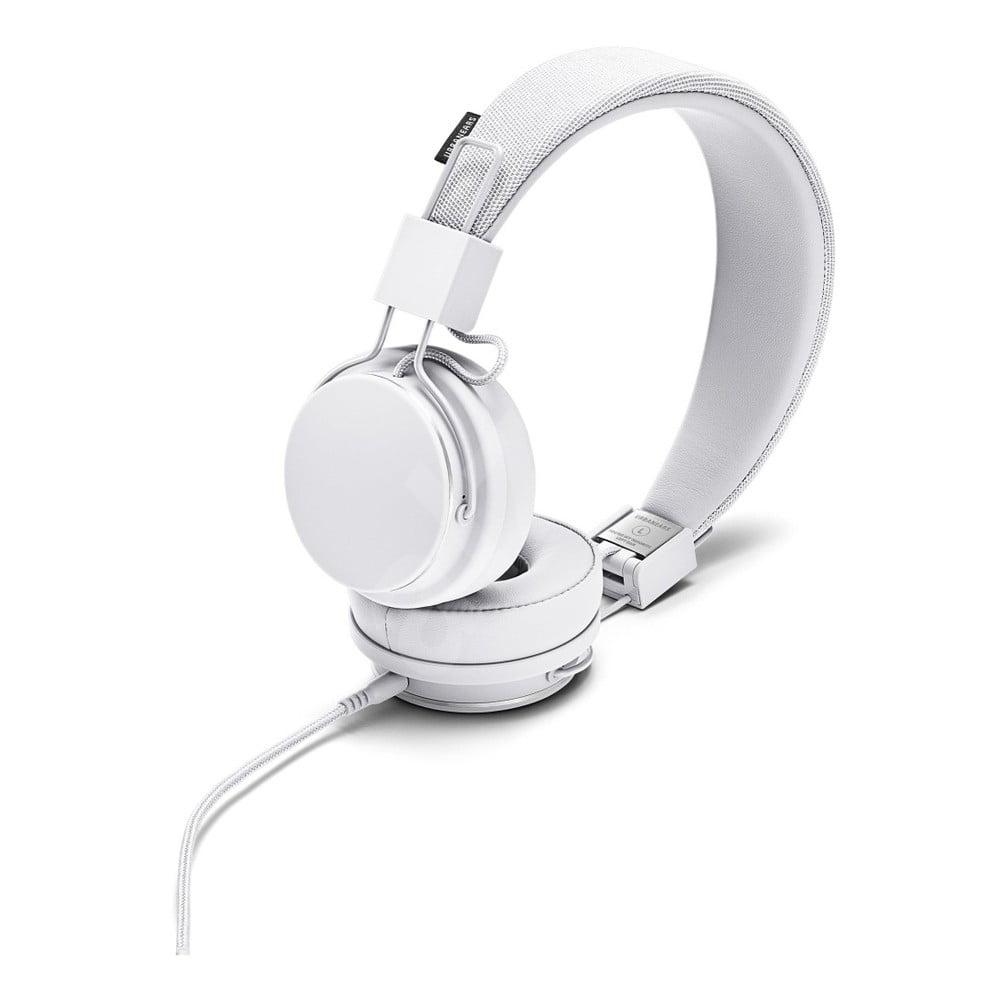 Bílá sluchátka s mikrofonem Urbanears PLATTAN II True White