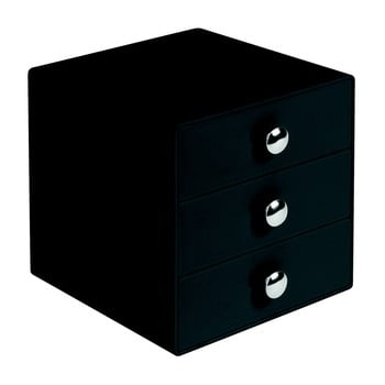 Organizator cu 3 sertare InterDesign Drawer, negru imagine