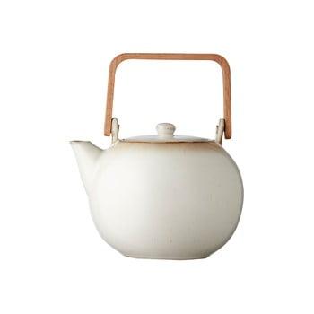 Ceainic din gresie ceramică Bitz Basics, 1,2 l, crem