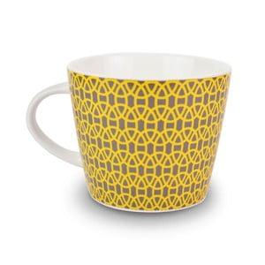 Hrnek Lace Charcoal/Yellow, 350 ml