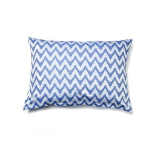 Modrý povlak na polštář z čisté bavlny Casa Di Bassi Aqua, 50 x 70 cm