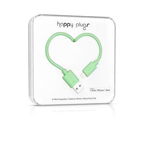 Mentolový Happy Plugs nabíjecí a datový kabel, 2 metry
