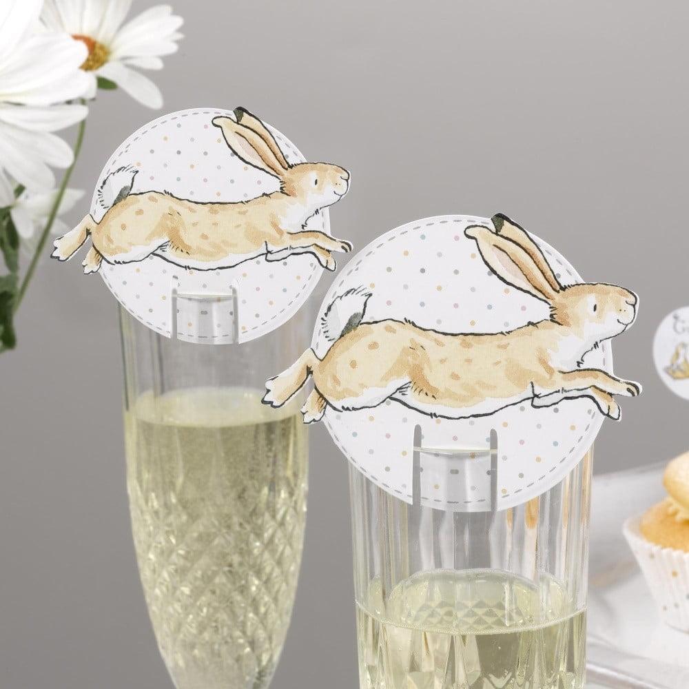 Sada 10 papírových dekorací na skleničky Neviti Guess How Much