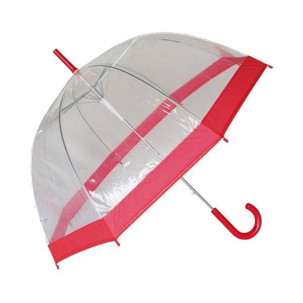 Deštník Ambiance Red Transparent