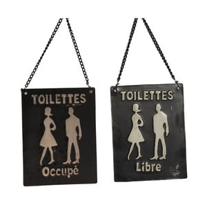 Cedulka na toaletu Occupé