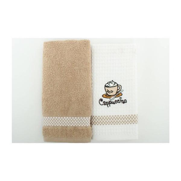 Sada 2 ručníků Coffee, 45x70 cm