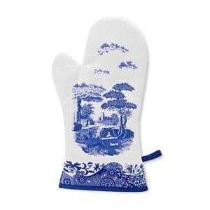 Bílomodrá bavlněná kuchyňská rukavice Spode Blue Italian