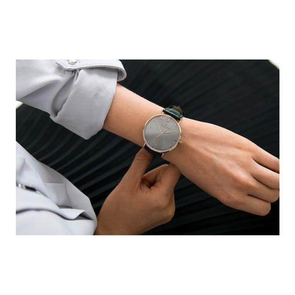 Unisex hodinky s tmavě zeleným páskem z pravé kůže Frederic Graff Croco Duro Green