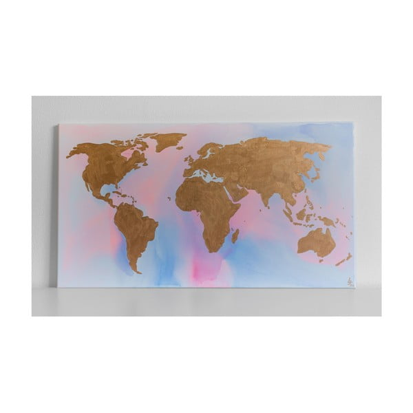 Obraz Rose Gold World, 50x90 cm