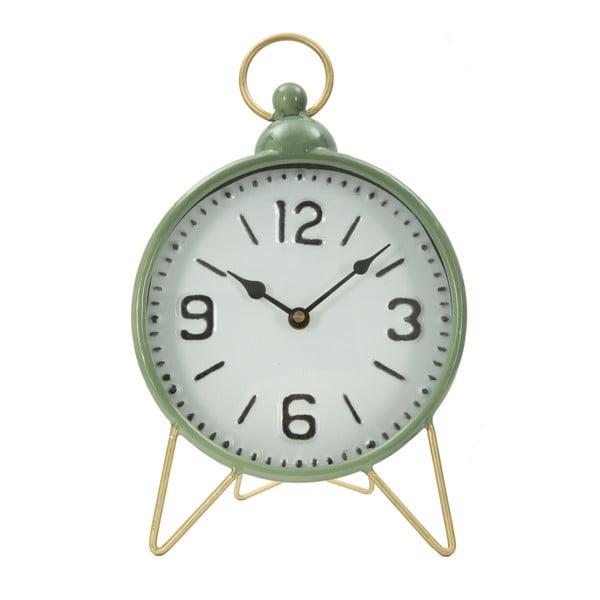 Zielony zegar stołowy z detalami w kolorze złota Mauro Ferretti Glam