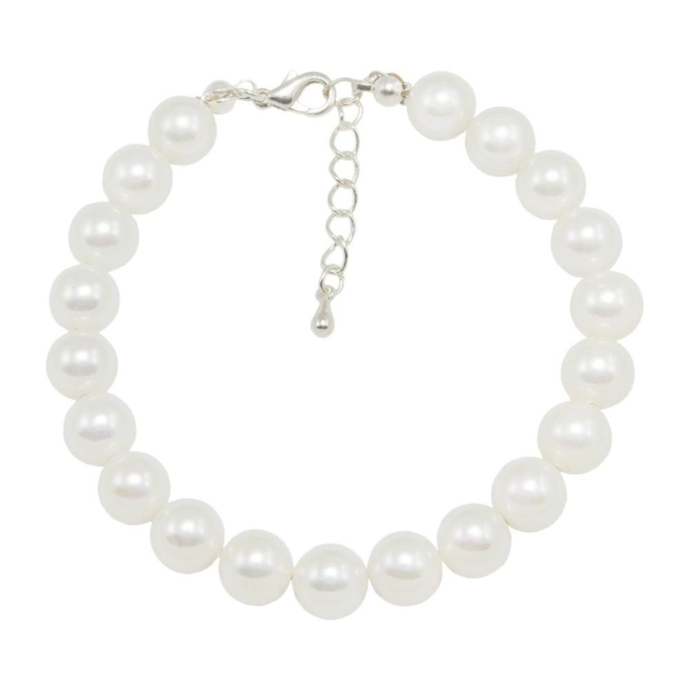 Bílý náramek Swarovski Elements Crystal s perlami Musaventura