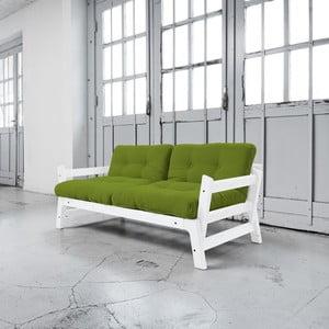 Rozkládací pohovka Karup Step White/Lime