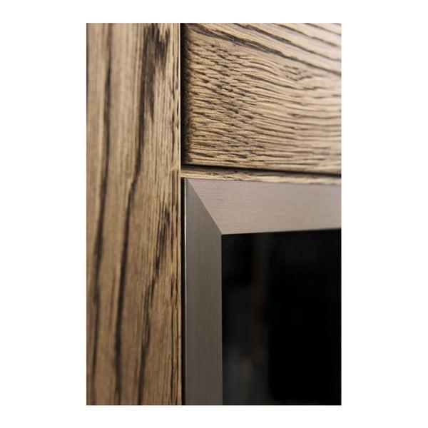 Třídveřová komoda v dřevěném dekoru kouřového dubu Szynaka Meble Negro