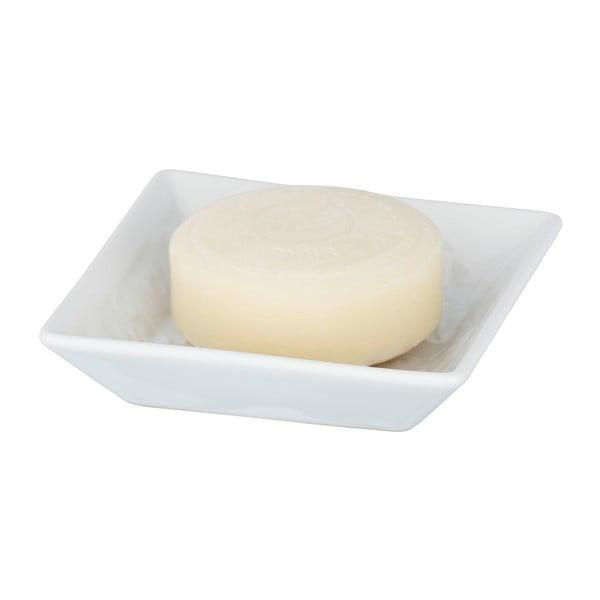 Bílá keramická mýdlenka Wenko Cordoba