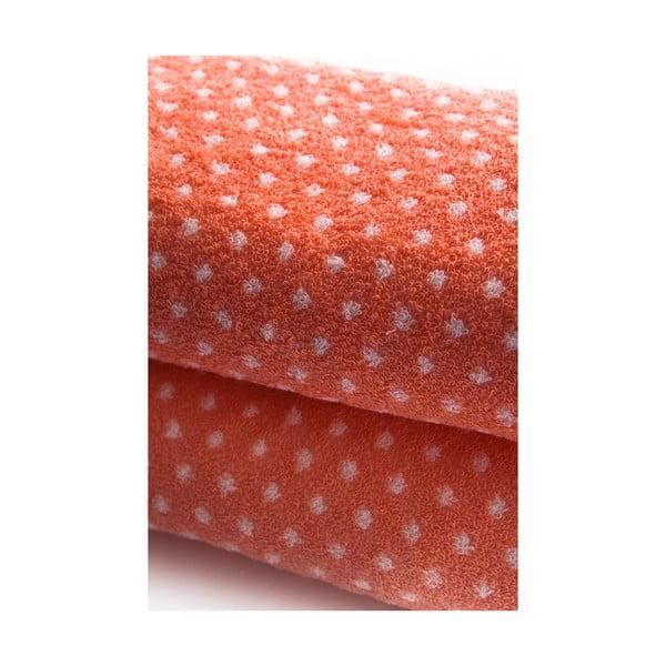 Set dvou ručníků Naila 90x50 cm, lososový