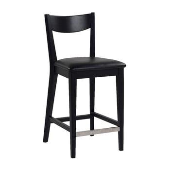 Scaun bar cu perna neagră RowicoDylan, negru de la Rowico