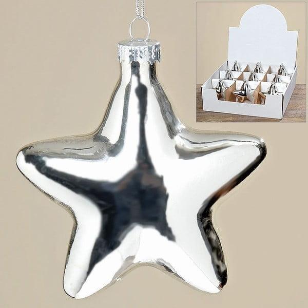 Sada 9 ks závěsných dekorací Silver Star
