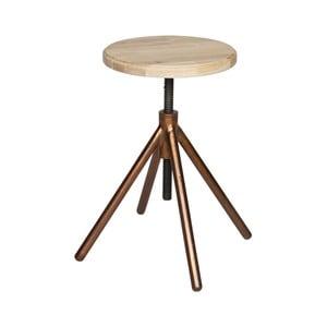 Dřevěná stolička s mosaznými nohami De Eekhoorn Lily