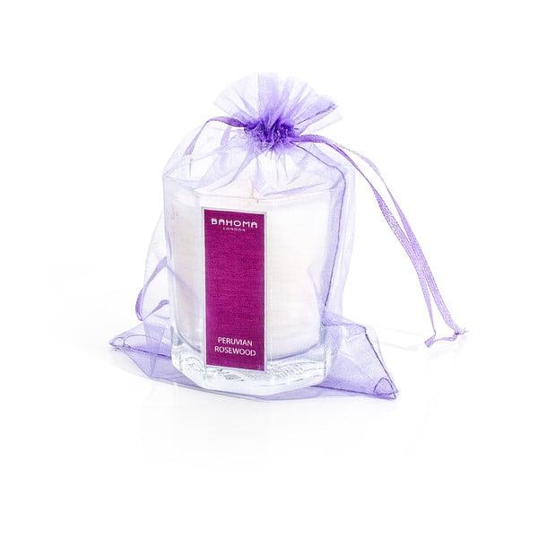 Vonná sviečka s vôňou pačuli a levandule Bahoma London Octagonal Cangle in Organza Bag