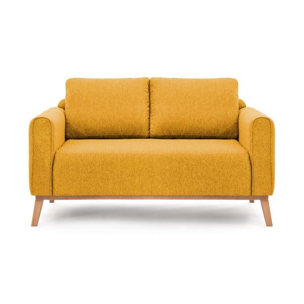 Hořčicově žlutá pohovka Vivonita Milton, 156 cm