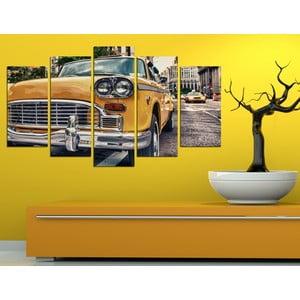 5dílný obraz Taxík